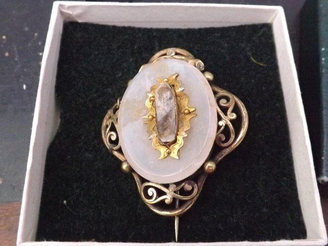 Old Victorian lady's brooch