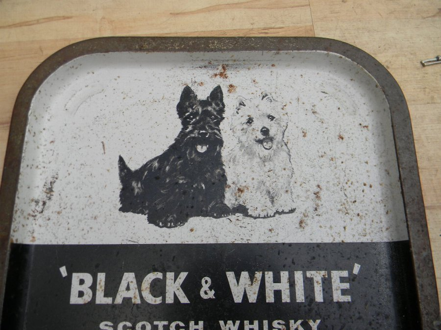 Old tin pub tray advertising Buchan's Whisky