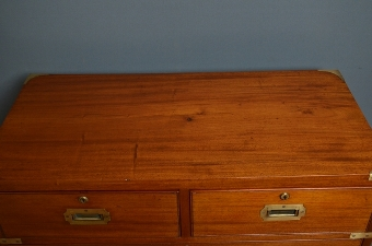 Antique Antique Military Chest of Drawers  sn2600