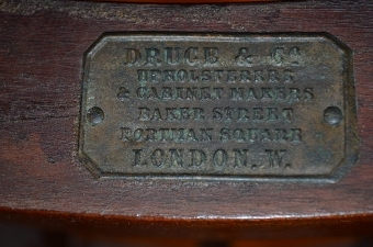 Antique antique Late Victorian Chair by Druce & Co London sn2540