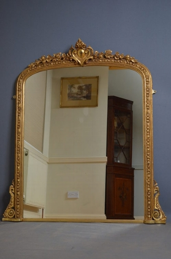 Antique antique Victorian Gilt Mirror sn2556