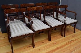 Antique Set of 8 Regency Chairs sn2404