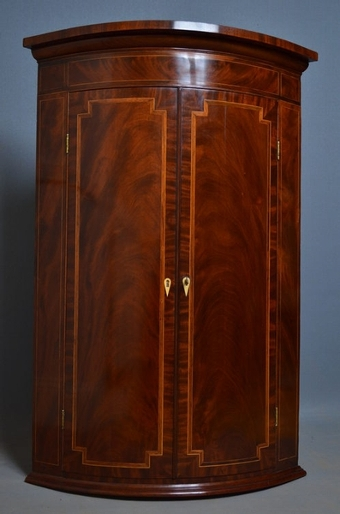 Antique Regency Wall Hanging Corner Cupboard sn2303