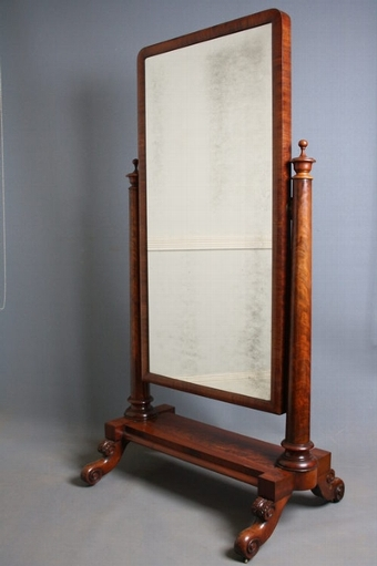 Antique Victorian Cheval Mirror sn2385