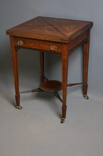 Antique Edwardian Envelope Card Table sn2353