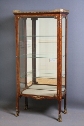 Antique Continental Display Cabinet/ Vitrine sn2153
