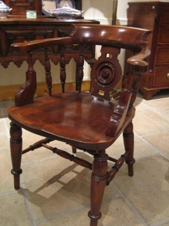 Antique Smokers Bow Chair.