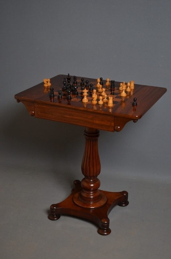Antique Wiliam IV Games Table sn2633