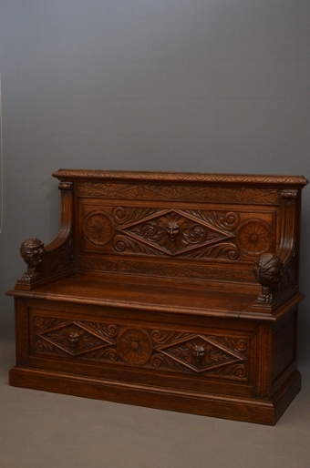 Antique Turn of the Century Box Seat sn2647