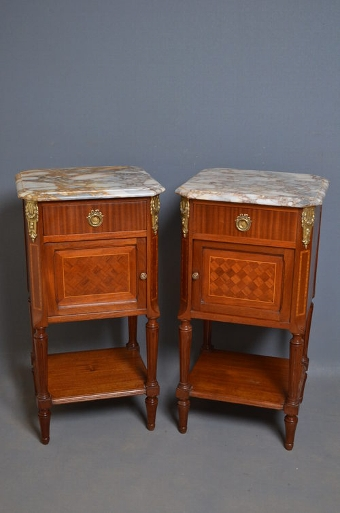 Antique Pair of Bedside Cabinets sn2666