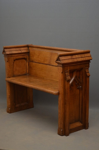 Antique An Oak Pew sn2678