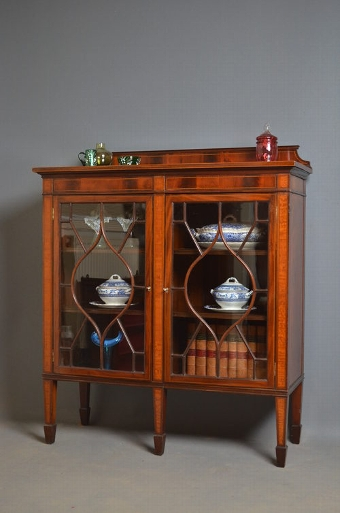 Antique Edwardian Display Cabinet sn2682