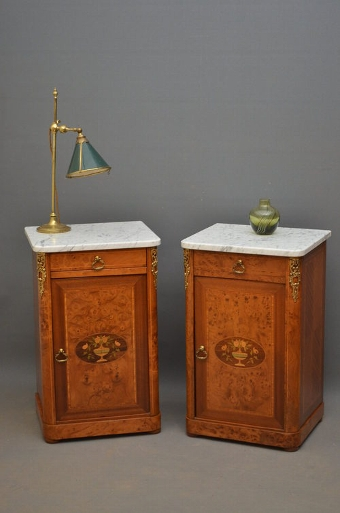 Antique Pair of Bedside Cabinets sn2785