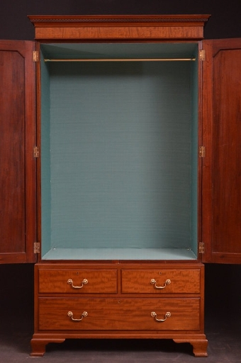 Antique Turn of the Century Double Wardrobe Sn2865