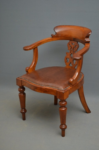 Antique Victorian Office Chair Sn2842b