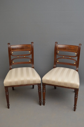 Antique Set of 8 Regency Chairs inc 2 Carvers Sn2810