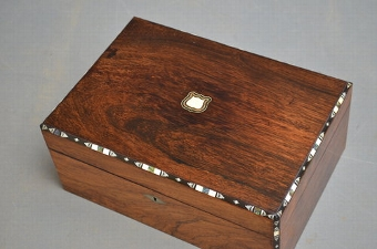 Antique Victorian Jewellery / Sewing Box Sn2953