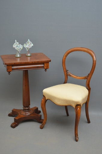 Antique A Victorian Walnut Occasional Chair Sn2895B
