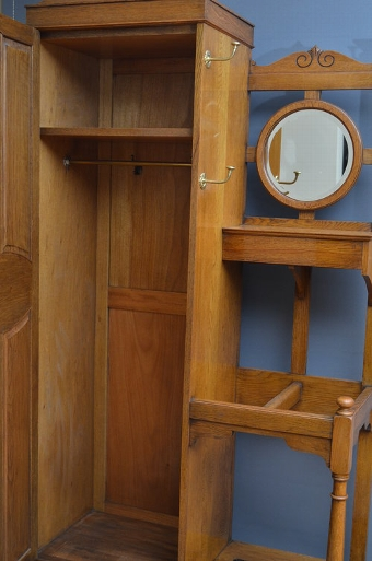 Antique Attractive Early XX Century Oak Hall Wardrobe sn2992
