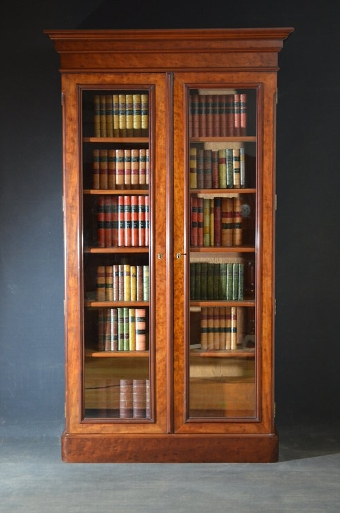 Antique Superb Mahogany Glazed Bookcase Sn3013