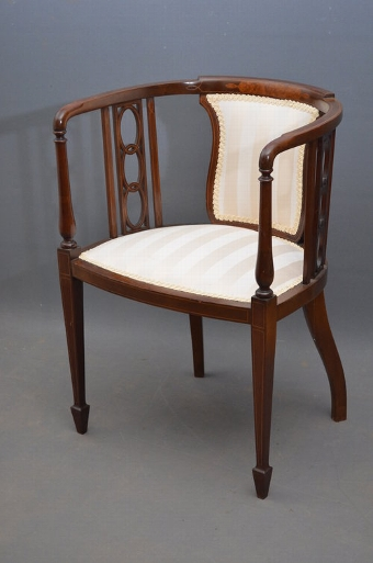 Antique Fine Edwardian Chair - Tub Chair sn2989