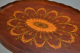 Antique Exceptional Edwardian Tray  - Mahogany Tray Sn3050
