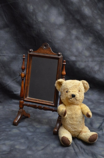 Antique Miniature Cheval Mirror / Toilet Mirror Sn042