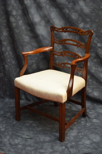 Antique Fine Georgian Armchair Sn047
