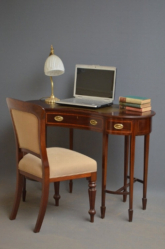 Antique Edwardian Kidney Shaped Writing Table Sn3215