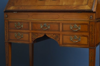 Antique Stunning Regency Satinwood Bureau Sn3221
