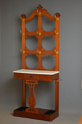 Antique Victorian - Gothic Revival Hall Stand Sn3140