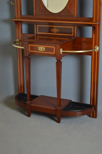 Antique Stunning Edwardian Mahogany Hall Stand Sn3327