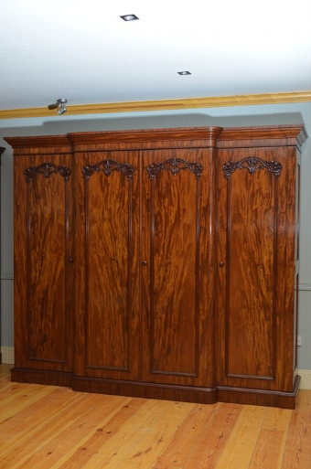 Antique Stunning Victorian 4 Door Mahogany Wardrobe Sn3354
