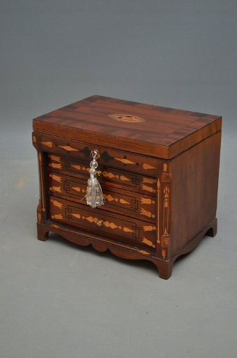 Antique George III Collector's Cabinet  Jewellery Box Sn3382