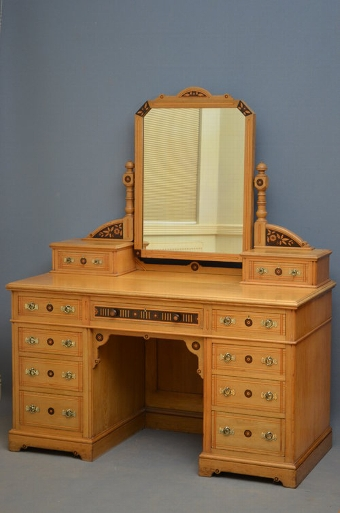 Antique Stunnning Aesthetic Movement Dressing Table Sn3276