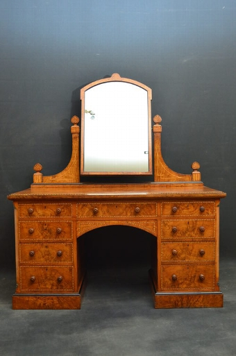 Antique Stunning Victorian Pollard Oak Dressing Table sn2803