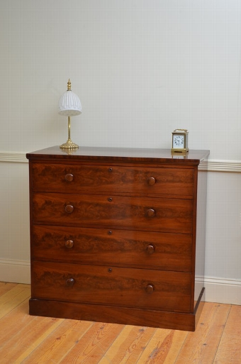 Antique Elegant Victorian Chest of Drawers in Mahogany sn3468