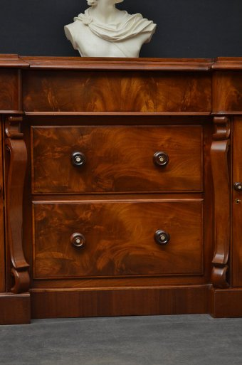 Antique Exceptional Victorian Mahogany Sideboard Sn3173