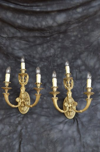 Antique Excellent Turn of the Century Wall Lights Sn3487