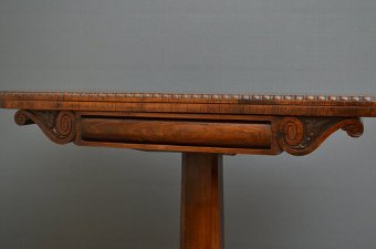 Antique Fine Regency Rosewood Card Table
