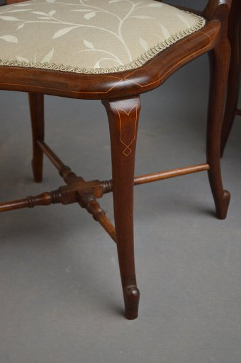 Antique Fine and Rare Matching Pair of Corner Chairs
