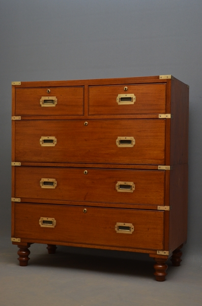 Antique Military Chest of Drawers  sn2600
