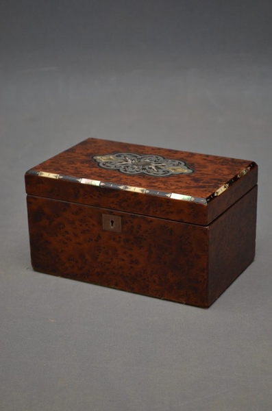 Antique Tea Caddy- Jewellery Box  sn2597