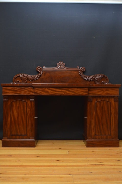 antique William IV Pedestal Sideboard sn668