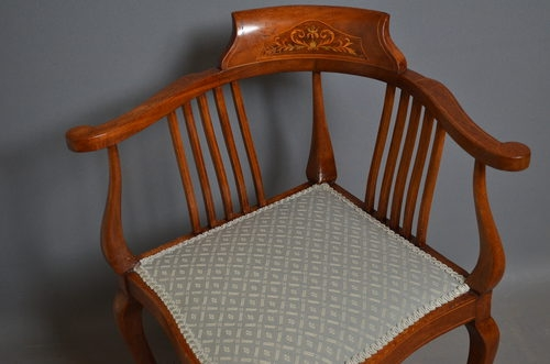 Antique antique Edwardian Corner chair  sn2532