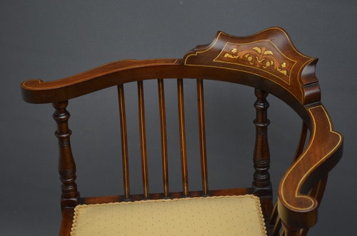 Antique Edwardian Corner Chair sn2524