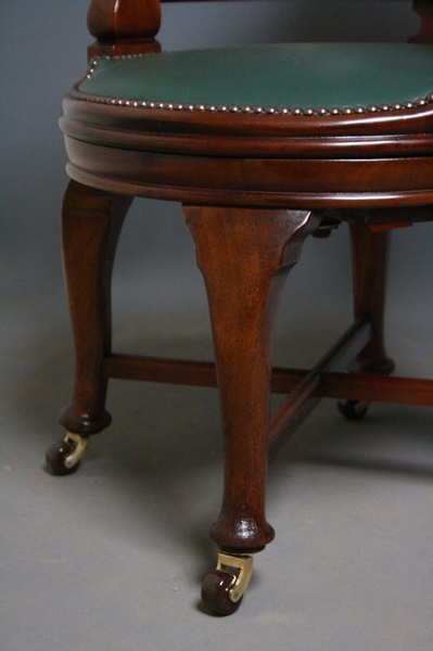 Antique Victorian Office Chair sn2446