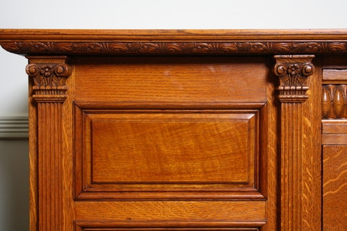 Antique Arts and Crafts Oak Sideboard sn2189