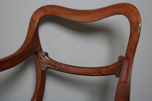 Antique Mahogany Carver Chair sn2092