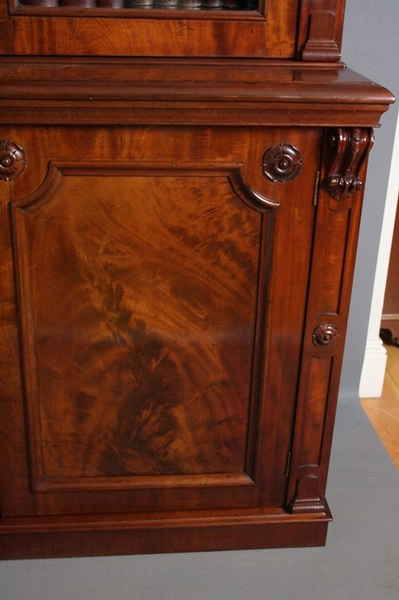 Antique Magnificent Library Bookcase sn1186